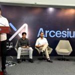 KTR visit Arcesium office Hyderabad - PR Management by 3MARK SERVICES